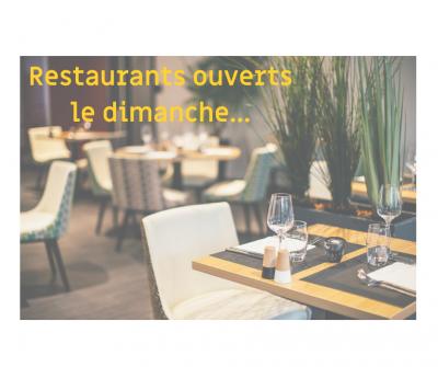 Restaurants ouverts le Dimanche